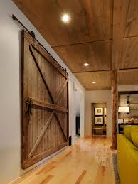 Salvaged Barn Doors by Grand Minimalist Interior Design With Grey Wall Also Reclaimed
