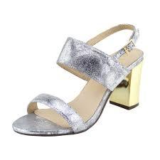 wedding shoes block heel womens new mid gold block heel party sandals wedding shoes