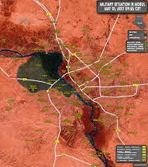 Kurdistan Map Situation In Iraqi City Of Mosul On May 1 2017 Map Update
