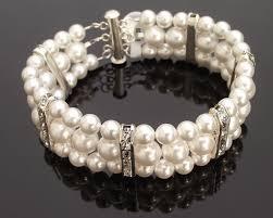 wedding bracelet pearl images Triple row wedding pearl bracelet lola jules bridal jewellery jpg