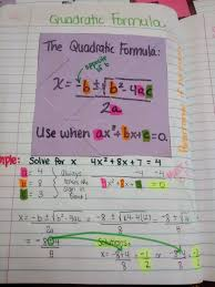 quadratic formula example quadratic equations pinterest