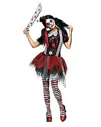 Scary Halloween Costume Girls Clown Costumes Adults Spirithalloween