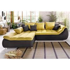 Canapé Convertible Jaune Canap D 39 Angle Convertible Canape Convertible Luxe Et Confort Maison Design Hosnya Com