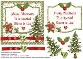 merry christmas special sister law card front