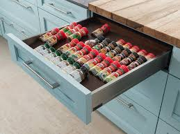 Spice Rack In A Drawer Spice Storage Drawer Wood Mode Fine Custom Cabinetry