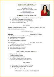 simple resume format exles resume format blank exle of simple resume format word blank free