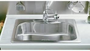 kohler staccato drop in sink staccato single basin self rimming kitchen sink staccato kohler