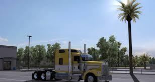 new kenworth w900 yellow boss kenworth w900 mod skin ats mod american truck