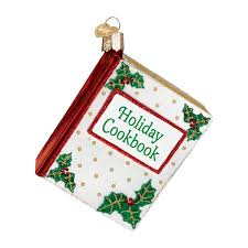 amazon com old world christmas cookbook glass blown ornament