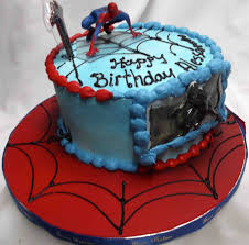 simple spiderman cake ideas