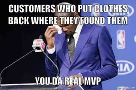 Meme Clothing - as a retail worker in a large clothing store meme guy