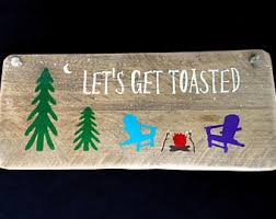 Fire Pit Signs by Get Toasted Etsy