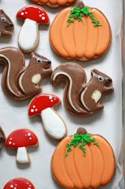 Recipe Decorated Cookies Video How To Decorate Squirrel Or Chipmunk Cookies Sweetopia