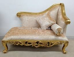 Small Sofa With Chaise Lounge by A Neoclassical Small Chaise Longue Sofa Ornate Gold Leaf Frame