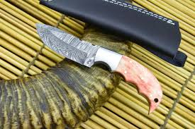 custom made damascus skinning hunting knife hand made u2013 hercules