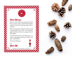 personalized elf goodbye letter christmas elf farewell