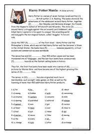 112 free esl cloze worksheets