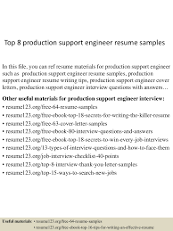 Best Resume Headline For Business Analyst by Top8productionsupportengineerresumesamples 150514014125 Lva1 App6892 Thumbnail 4 Jpg Cb U003d1431567744