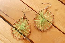 thread earrings how to make peruvian thread earrings 11 steps with pictures