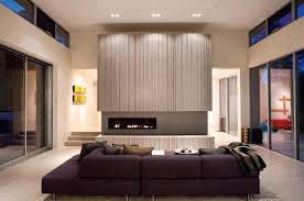 Warm And Modern Fireplace Modern Living Room San Francisco - Modern living room furniture san francisco
