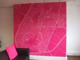 the large pink map of st neots in harvey robinson estate agents