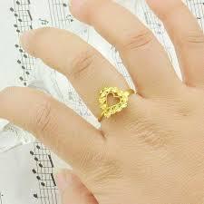 Heart Shaped Wedding Rings by Women U0027s 24k Gold Heart Ring Ring Wild Fashion Plated Heart Shaped