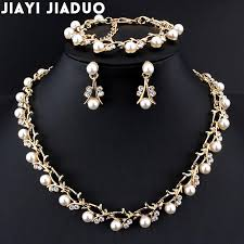 fashion jewelry pearls necklace images Jiayijiaduo classic imitation pearl necklace gold color jewelry jpg