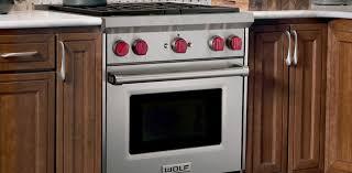 minimalist kitchen design with wolf 30 freestanding gas range