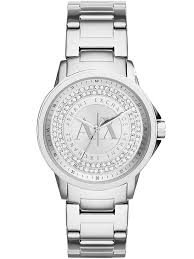 armani watches bracelet images Armani exchange ladies silver stone dial bracelet watch ax4320 jpg
