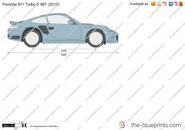 2006 Porsche 911 Turbo S The Blueprints Com Vector Drawing Porsche 911 Turbo S 997