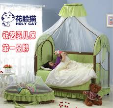 deluxe edition baby crib korean lengthened green wrought iron beds