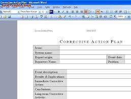 corrective action plan template affordablecarecat