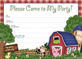 free printable barnyard farm invitation template free printable