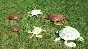 large 24 metal turtle yard ornament