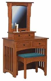 Mission Vanity The Wood Loft Amish Custom Made Bedroom Furniture