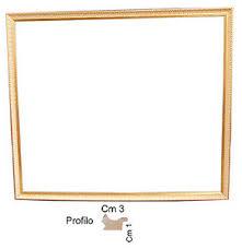 cornici per foto cornice in oro per quadri 252 spessore front cm 3 cornici