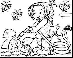 amazing kids spring coloring pages with children coloring pages