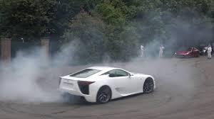 lexus lfa 2016 lexus lfa u0026 lc 500 go insane at goodwood lols burnouts drifts