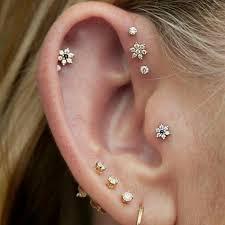 stud for ear best 25 top of ear piercing ideas on ear peircings