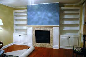 built in bookcases base cabinets and fireplace surround custom