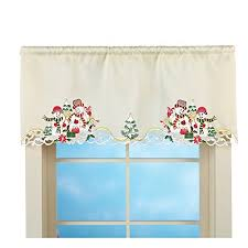 Christmas Kitchen Curtains by Christmas Curtains For Kitchen Windows Amazon Com