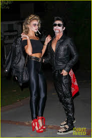 leather jacket halloween costume matthew bellamy does bloody u0027grease u0027 costume with elle evans