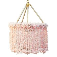 Beachy Chandeliers by Ro Sham Beaux Lily Pink Quartz Chandelier