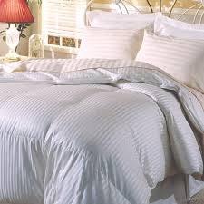100 Percent Goose Down Comforter Hotel Grand Silk 400 Thread Count Premium White Goose Down