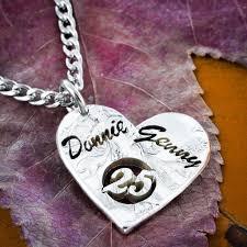 custom name jewelry 25th anniversary necklace custom name husband jewelry