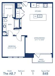 1 2 bedroom apartments in dallas tx camden victory park blueprint of a8 7 floor plan 1 bedroom and 1 bathroom at camden victory