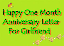 beautiful happy one month anniversary letter for girlfriend