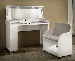 white contemporary dressing table caprice collection modern vanity table with led lights optional
