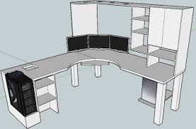 l shaped gaming computer desk diy computer desk ideas space saving awesome picture desks