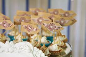 airplane baby shower decorations kara s party ideas vintage airplane baby shower ideas supplies